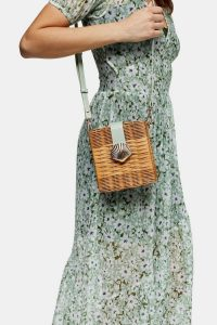 TOPSHOP SHELL Sage Wicker Cross Body Bag