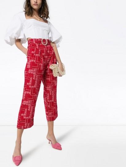 SHRIMPS Houston cropped patchwork-print cotton trousers – cropped paisley pants