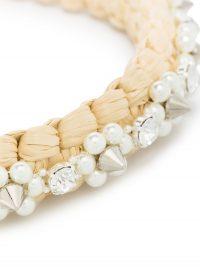 SIMONE ROCHA Raffia woven-style embellished headband