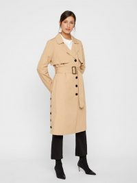 YAS SINGLE-BREASTED TRENCHCOAT Beige / Tan – trench coats with extra style