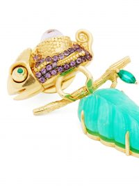DANIELA VILLEGAS Sir Joseph Banks emerald & 18kt gold earrings ~ luxury insect themed jewllery