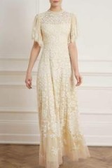 NEEDLE & THREAD HONESTY FLOWER GOWN in Meadow Yellow