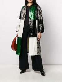 STAND STUDIO snakeskin print patchwork coat