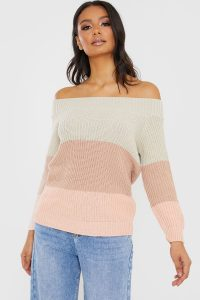 IN THE STYLE STONE OFF SLOUCH KNITTED JUMPER