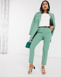 Stradivarious tailored set in green – trouser suit sets