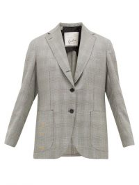 GIULIVA HERITAGE COLLECTION The Esther Prince of Wales-check wool blazer in grey