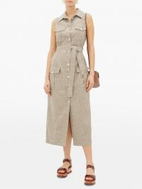 GIULIVA HERITAGE COLLECTION The Mary Angel sleeveless wool-blend shirtdress in beige