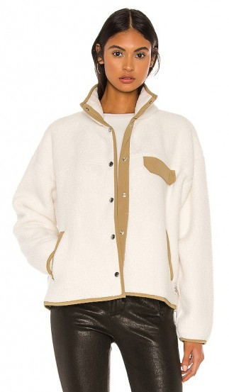 The North Face Cragmont Fleece Jacket in Vintage White & Kelp Tan