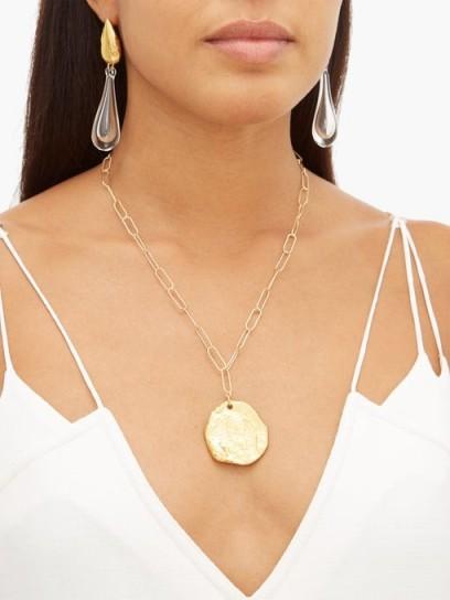 ALIGHIERI The Sorcerer 24kt gold-plated necklace ~ large disc pendants