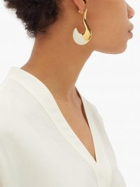 MARNI Tipped curve earrings ~ contemporary gold-tone jewellery