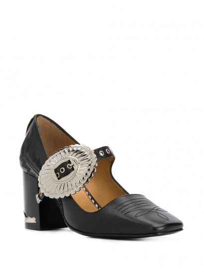 TOGA PULLA buckled Mary-Jane black-leather pumps