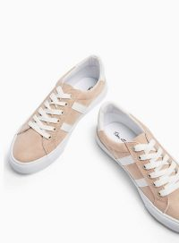 MISS SELFRIDGE TOMMY Nude Lace Up Trainers
