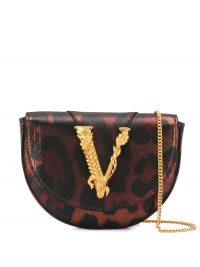 VERSACE Virtus leopard print belt bag / luxe bum bags