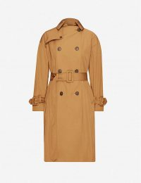 VINCE Belted double-breasted woven trench coat in tapenade