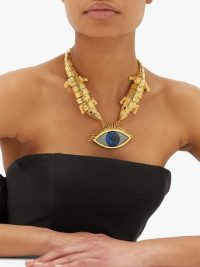 BEGUM KHAN Wallis 24kt gold-plated evil-eye necklace
