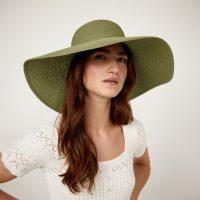 WAREHOUSE WIDE BRIM HAT LIGHT GREEN – hats – summer accessories