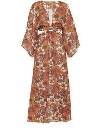 DODO BAR OR Shelly long dress in flower 1 orange | 70s look floral prints