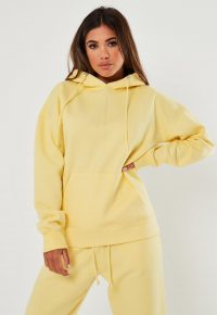 MISSGUIDED yellow basic hoodie – hoodies – casual – affordable
