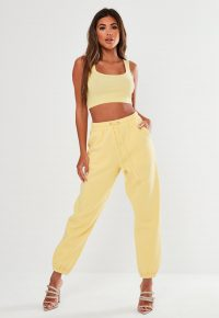 MISSGUIDED yellow oversized 90's joggers