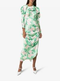 yuhan wang Floral Print Dress / ruched dresses