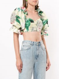 ALICE MCCALL Garden My Heart cropped top / feminine crop tos