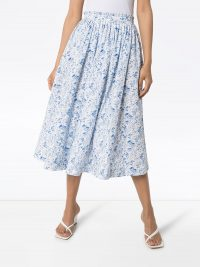 ANOUKI floral print gathered midi skirt | printed summer skirts