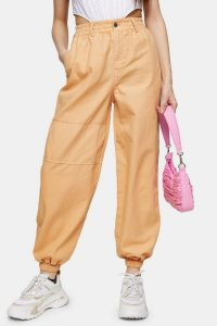 TOPSHOP Apricot Cuffed Utility Trousers