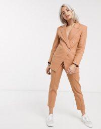 ASOS DESIGN Petite ultimate linen suit in plaster