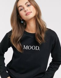 ASOS DESIGN sweatshirt with mood print