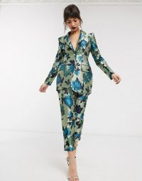 ASOS EDITION summer floral jacquard suit / luxury look suits