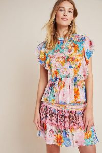 Floral tops – Bhanuni by Jyoti Pomelo Ruffled Blouse Orange Motif – multicoloured flowers