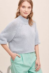 High Neck Sweater – Anthropologie Halla Recycled-Wool Jumper in Grey