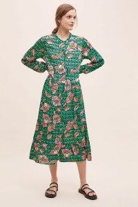 Lolly's Laundry Alicia Floral Dress Green Motif