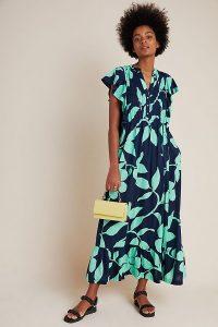 Blue floral dress / Maeve Kaia Maxi Dress