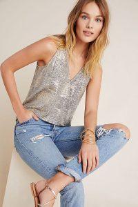 ANTHROPOLOGIE Sabrina Shimmer Top ~ sparkly tops