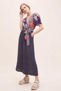 Carolla Printed-Wrap Jumpsuit Blue Motif / mixed prints