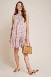 Anthropologie Natalie Flounced Tunic Dress / ditsy prints