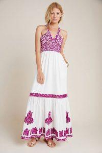 Anthropologie Manuela Embroidered Dress