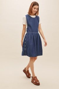 Mads Nørgaard Dalia Organic-Cotton Denim Dress | cute pinafore dresses