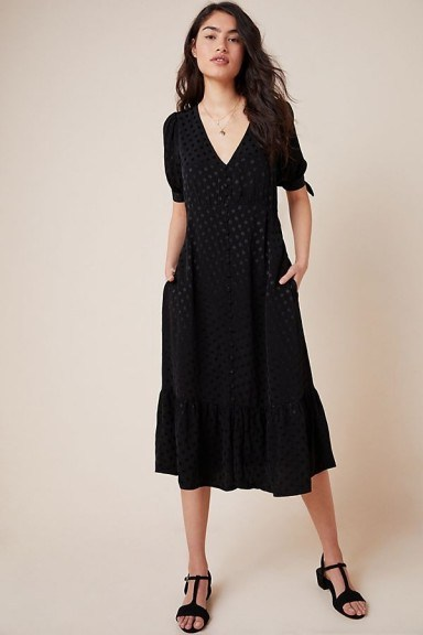 Maeve Eudora Dress Black ~ dresses with tie sleeves - flipped