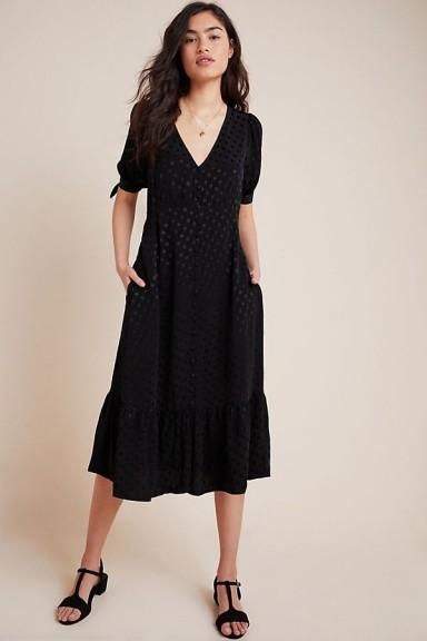 Maeve Eudora Dress Black ~ dresses with tie sleeves