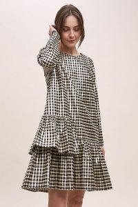 Just Female Bacia Checked Dress Black & White