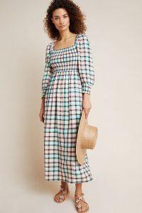 Maeve Cerie Smocked Midi Dress