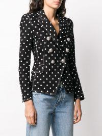 BALMAIN polka dot structured blazer / tailored jackets