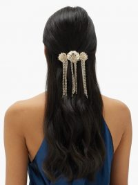 ROSANTICA Basquiat fringed crystal seashell hairclip | sea inspired hair clips