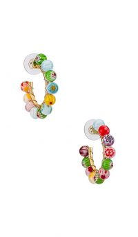 Bauble Bar Strada Hoop Earrings | multicoloured hoops