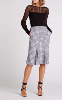 ROLAND MOURET BEAUFORT SKIRT Blue Multi