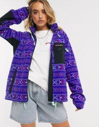 Berghaus Ascent Aztec 91 full zip fleece in Aztec deep blue