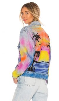 BLANKNYC Airbrushed Denim Trucker Jacket Good Riddance