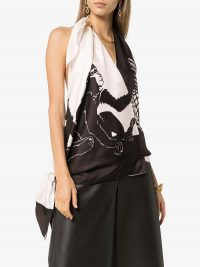 BOTTEGA VENETA Monkey print scarf top